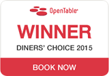 OpenTable Diner's choice 2015